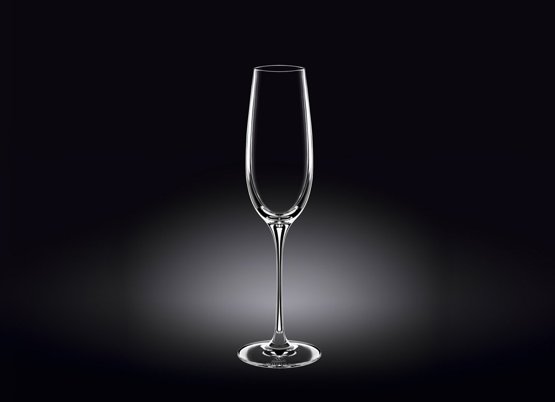 Набор бокалов Wilmax для шампанского  260 мл 2 шт (фирменная коробка)