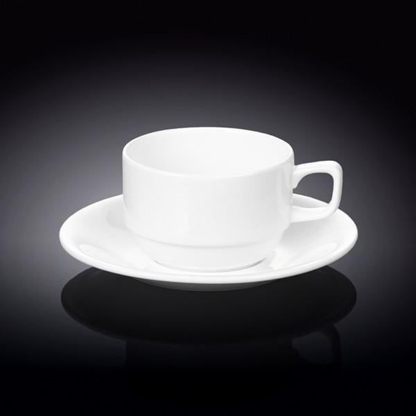 Набор: чайная чашка & блюдце 220 мл Wilmax 6 пар в цв. уп.
