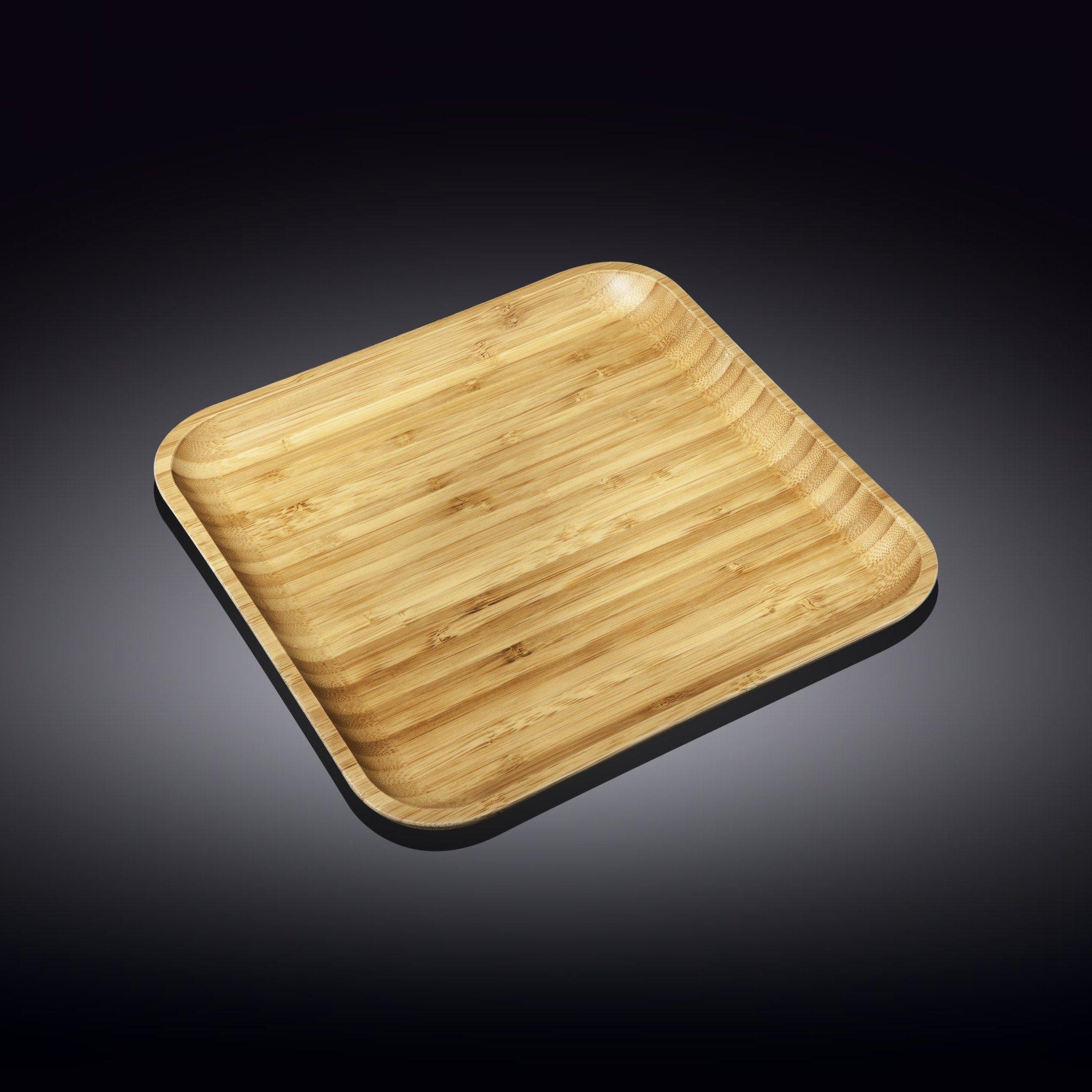 Тарелка бамбуковая Wilmax сервировочная квадратная 28х28 см