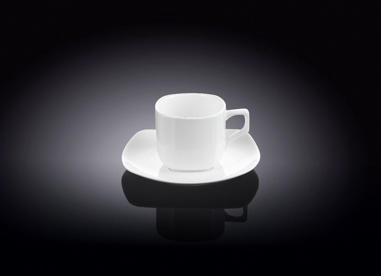 Набор кофейная чашка и блюдце Wilmax 90 мл 1 пара