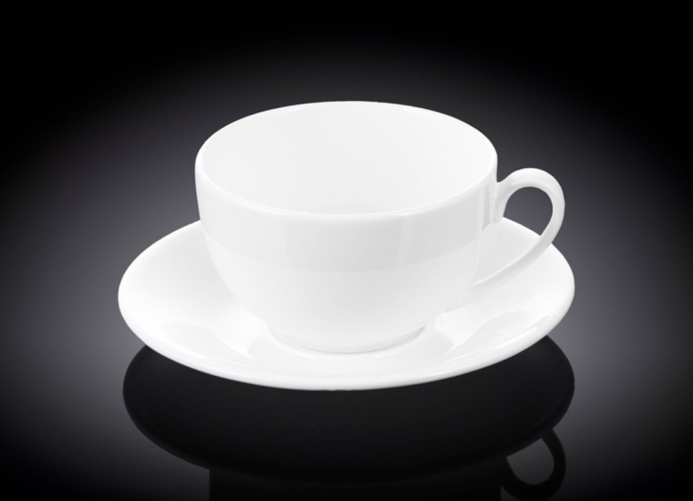 Набор чайная чашка и блюдце 250 мл Wilmax 6 пар в индивидуальной упаковке