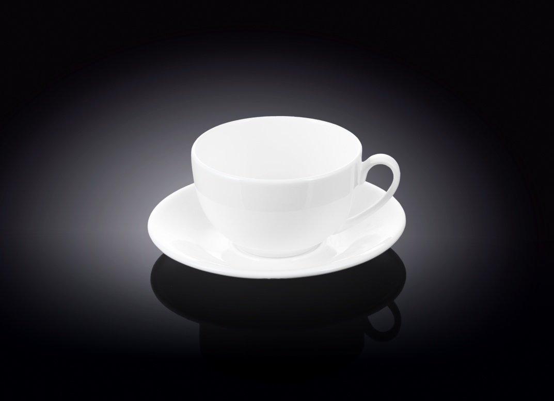 Набор: чайная чашка и блюдце Wilmax 250 мл (фирменная коробка)