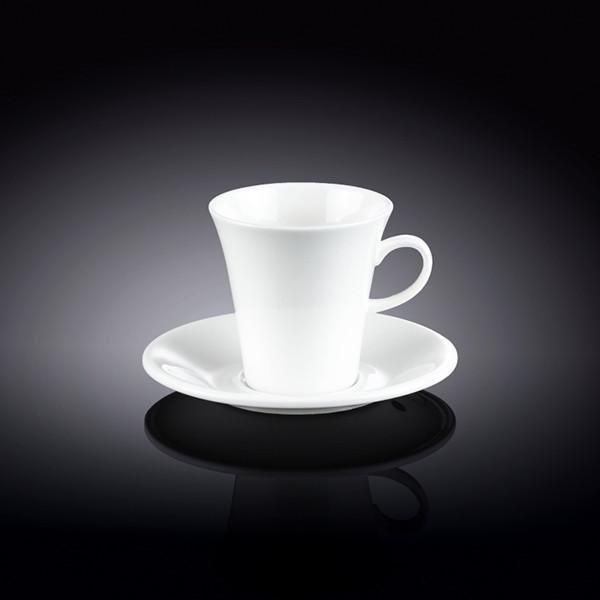 Набор: кофейная чашка & блюдце 160 мл Wilmax 6 пар инд. уп.