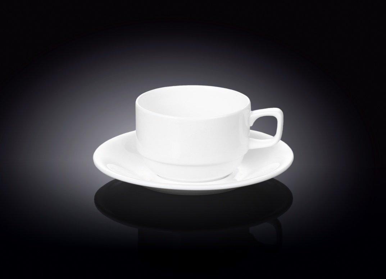 Набор: чайная чашка и блюдце Wilmax 220 мл
