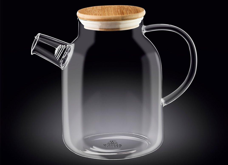 Чайник 1600 мл Thermo Wilmax с бамбуковой крышкой