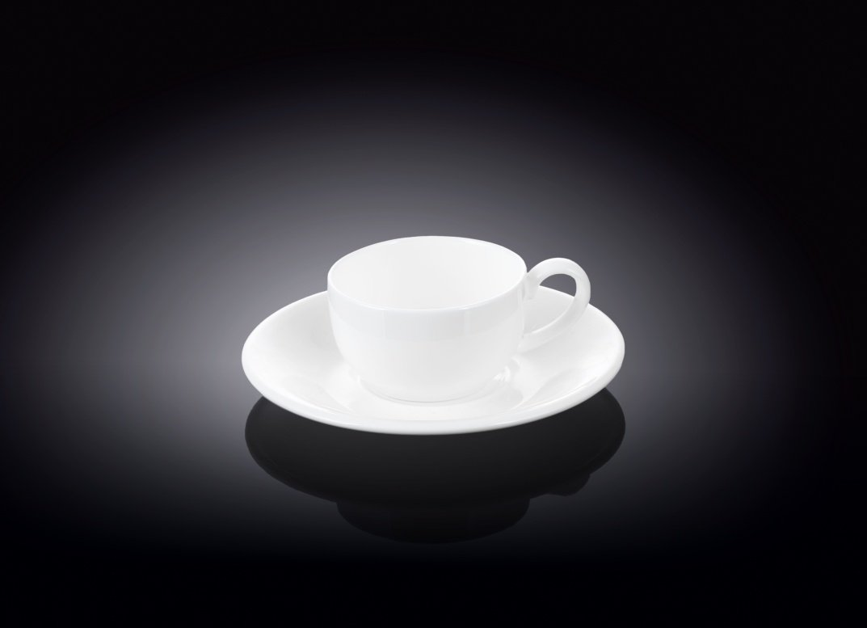 Набор кофейная чашка блюдце Wilmax 100 мл
