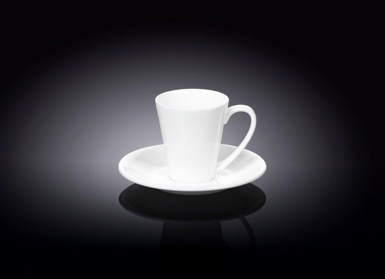 Чашка кофейная и блюдце Wilmax 110 мл (фирменная коробка)