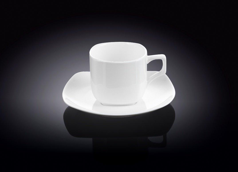 Набор чайная чашка и блюдце Wilmax 200 мл, 2 пары (фирменная коробка)