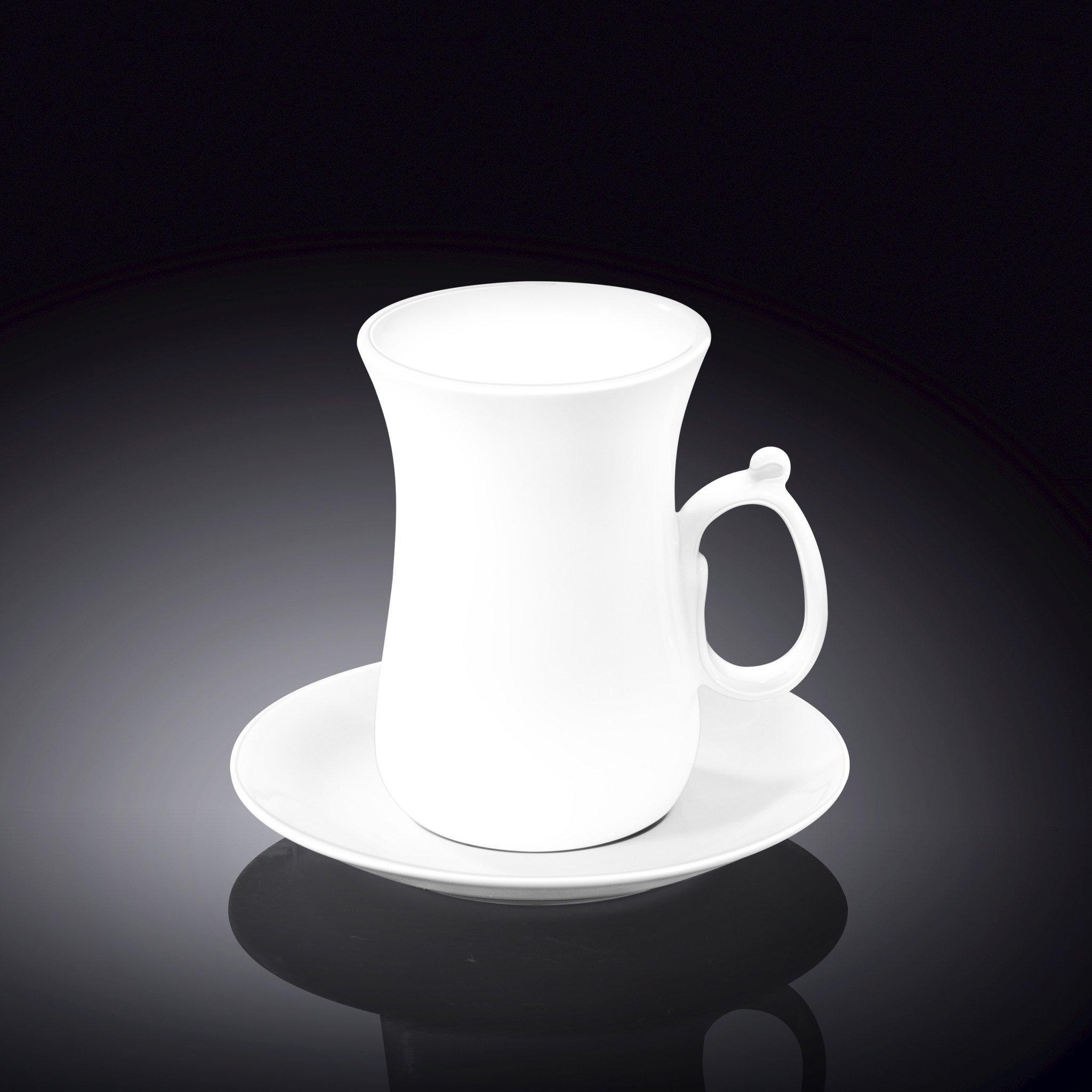 Набор: чайная чашка & блюдце 120мл Wilmax 6 пар  в цв. уп.