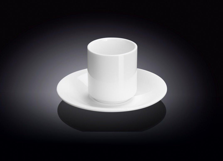 Набор: чайная чашка и блюдце Wilmax 150 мл