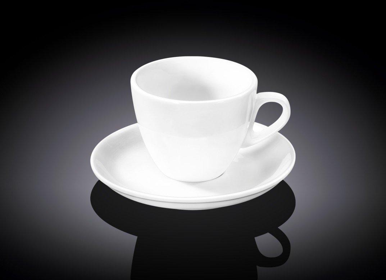 Набор кофейная чашка и блюдце Wilmax 110 мл