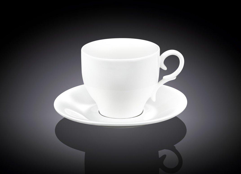 Набор кофейная чашка блюдце Wilmax 90 мл