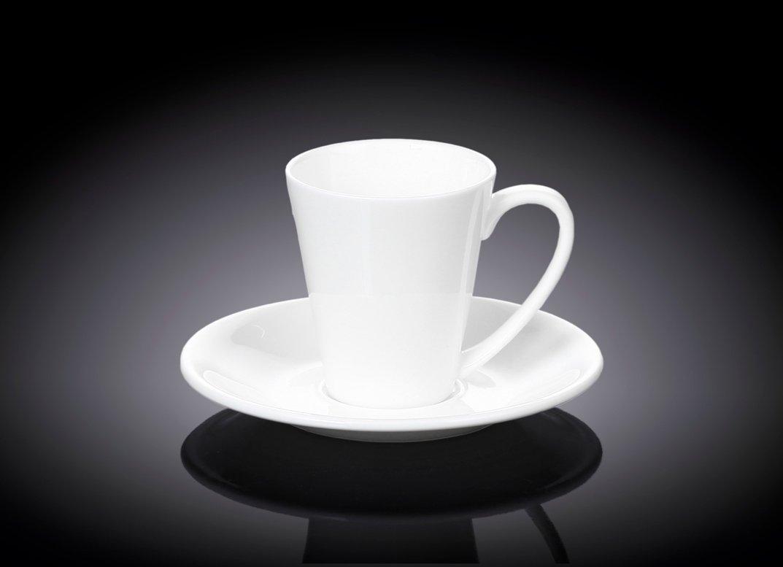 Набор Чашка кофейная и блюдце 110 мл Wilmax 6 пар в индивидуальной упаковке