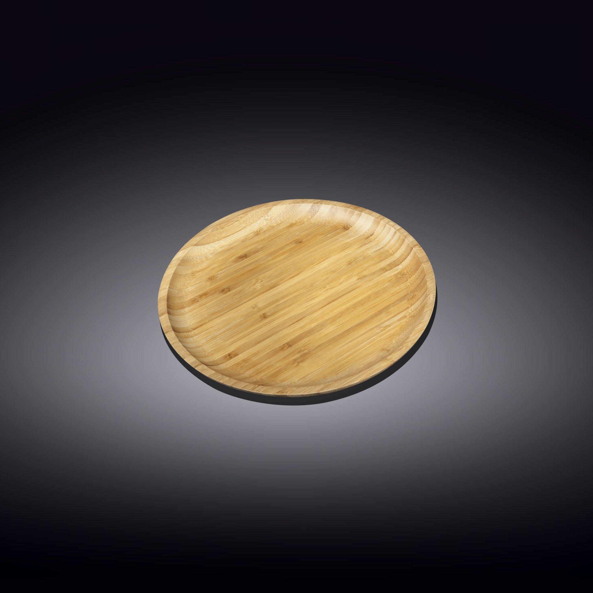 Тарелка бамбуковая Wilmax сервировочная круглая 10 см