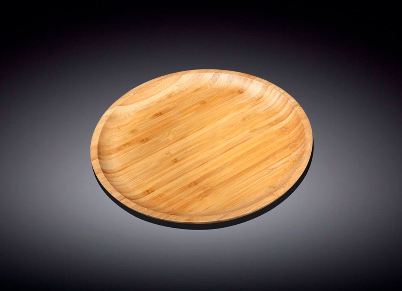 Сервировочное блюдо 28 см Wilmax бамбуковое круглое