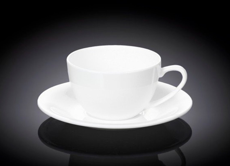 Набор чашка и блюдце 180 мл Wilmax для капучино 6 пар в индивидуальной упаковке