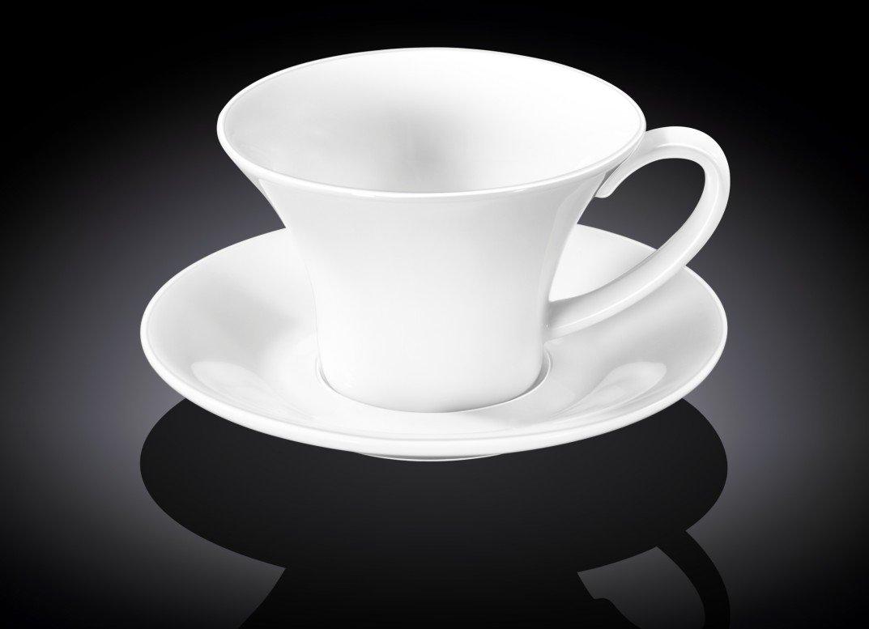Набор чайная чашка и блюдце Wilmax 330 мл