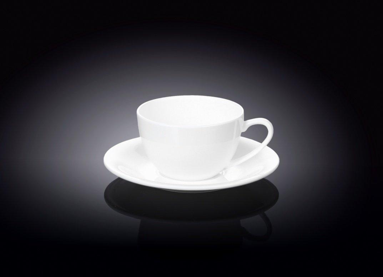 Набор Wilmax чашка для капучино и блюдце 180 мл, 2 пары (фирменная коробка)