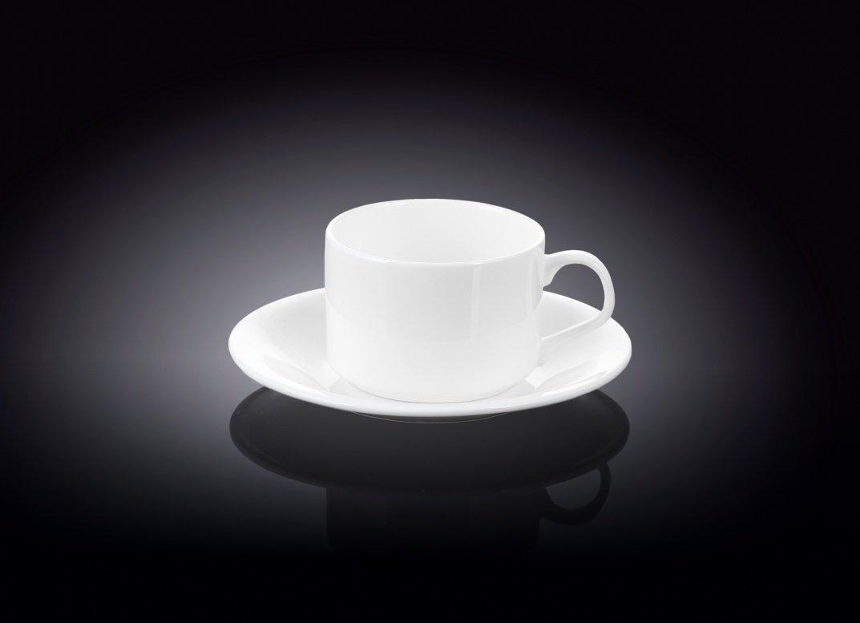Набор: чайная чашка и блюдце Wilmax 160 мл