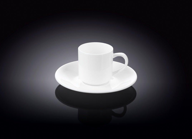 Набор Wilmax кофейная чашка и блюдце 90 мл (фирменная коробка)