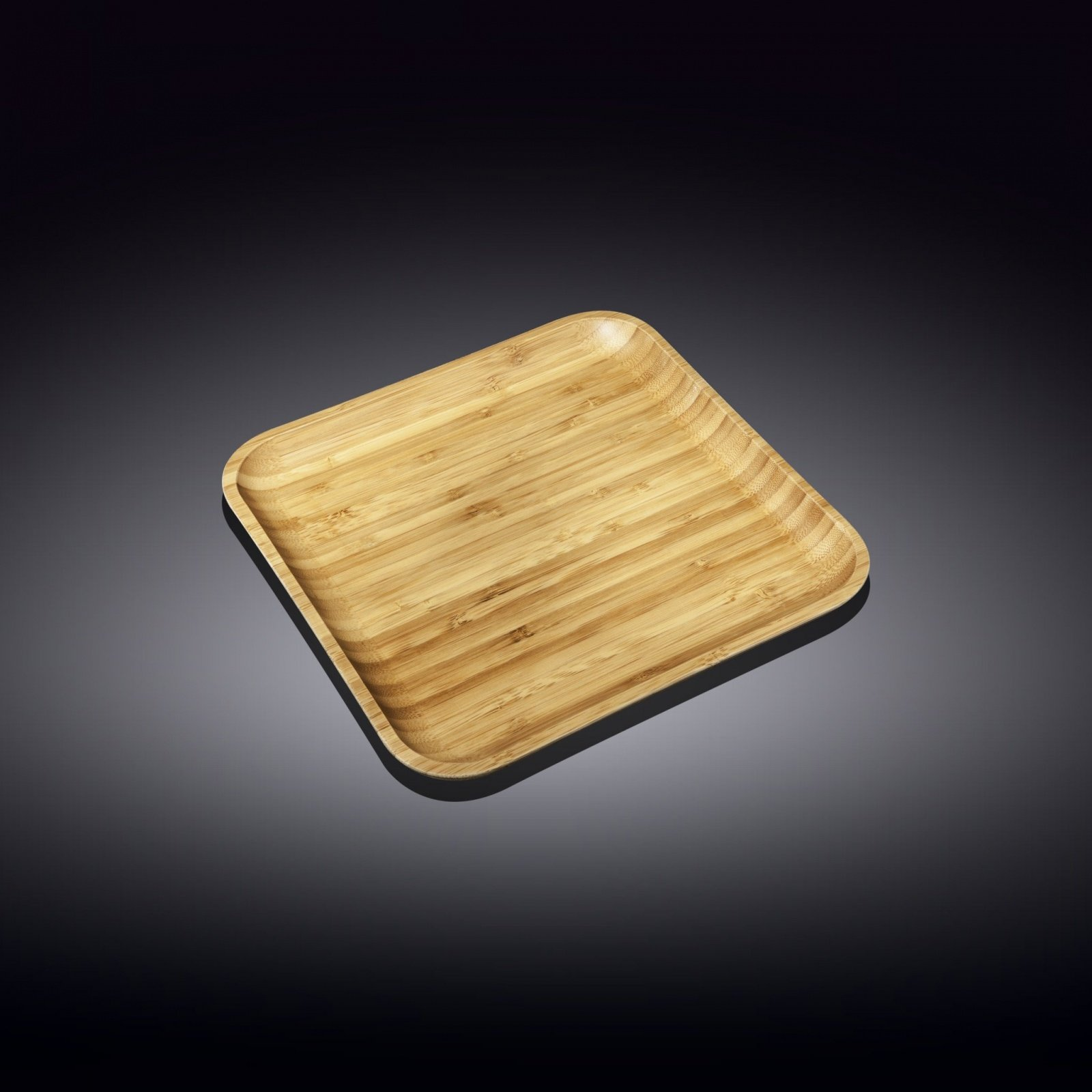 Тарелка бамбуковая Wilmax сервировочная квадратная 17,5 x 17,5 см