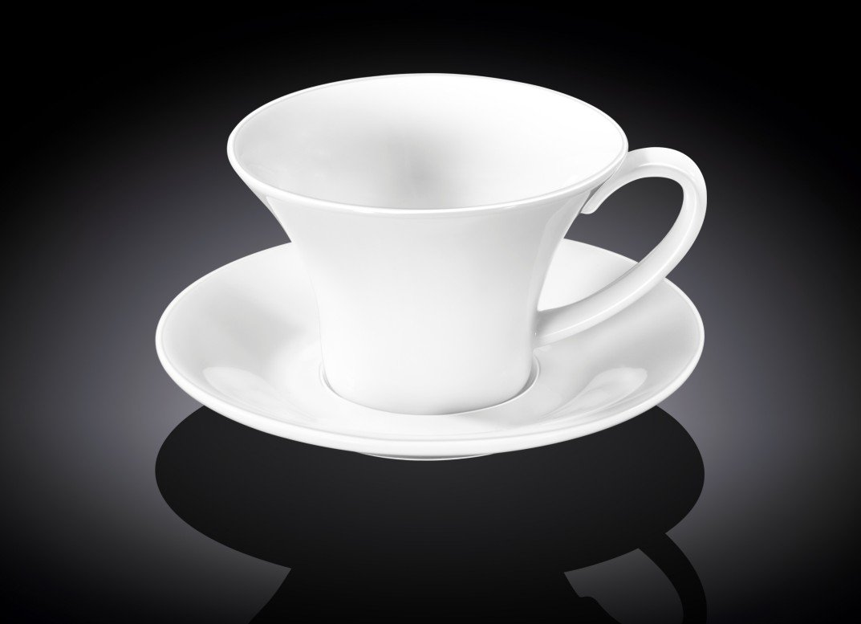 Набор чайная чашка и блюдце Wilmax 240 мл
