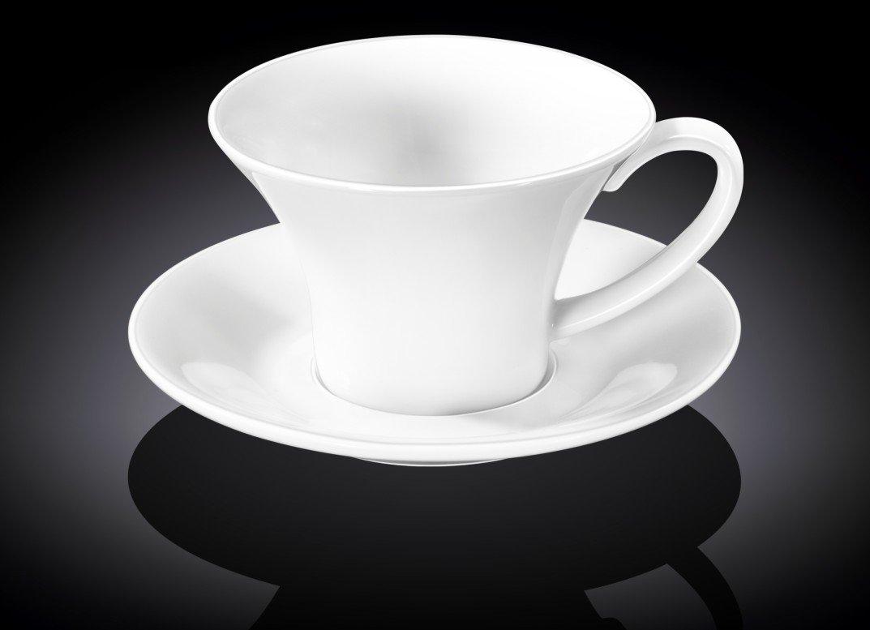Набор чайная чашка и блюдце Wilmax 430 мл
