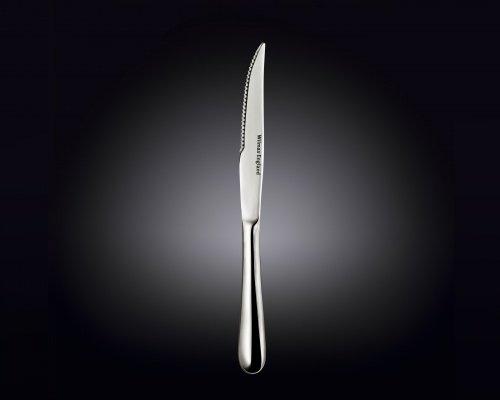 Нож для стейка 23,5 см. нержавеющий Wilmax в белой упаковке