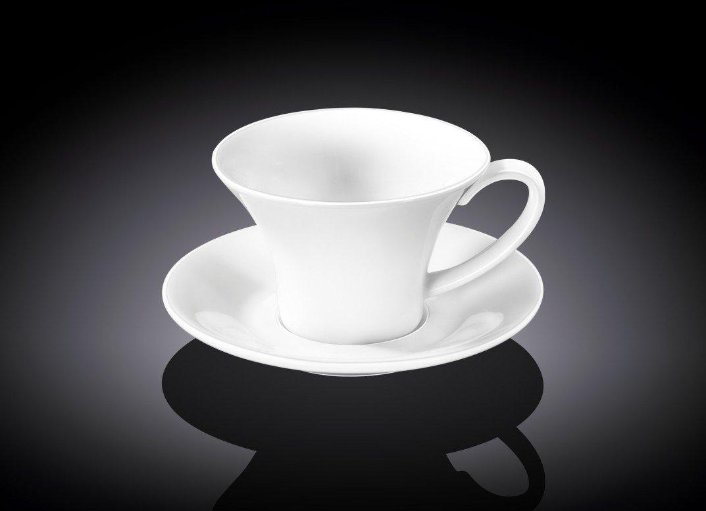 Набор кофейная чашка и блюдце Wilmax 100 мл