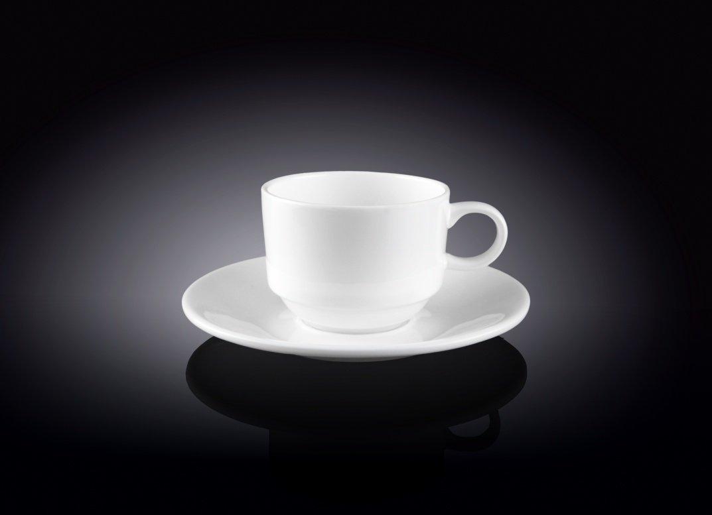 Набор Wilmax кофейная чашка и блюдце 140 мл