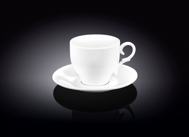 Набор: чайная чашка и блюдце Wilmax 220 мл 4 пары (фирменная коробка)