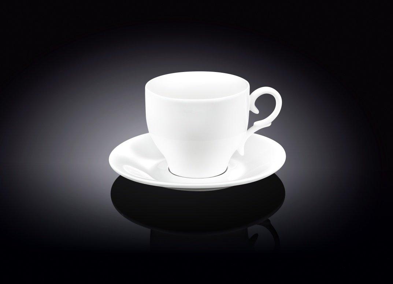 Набор: чайная чашка и блюдце Wilmax 220 мл (фирменная коробка)