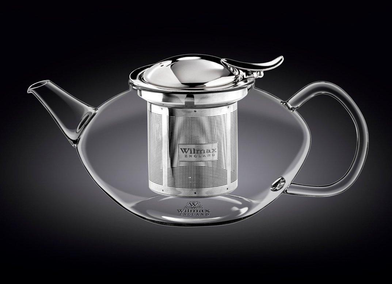 Заварочный чайник с ситечком Wilmax Thermo Glass 1050 мл