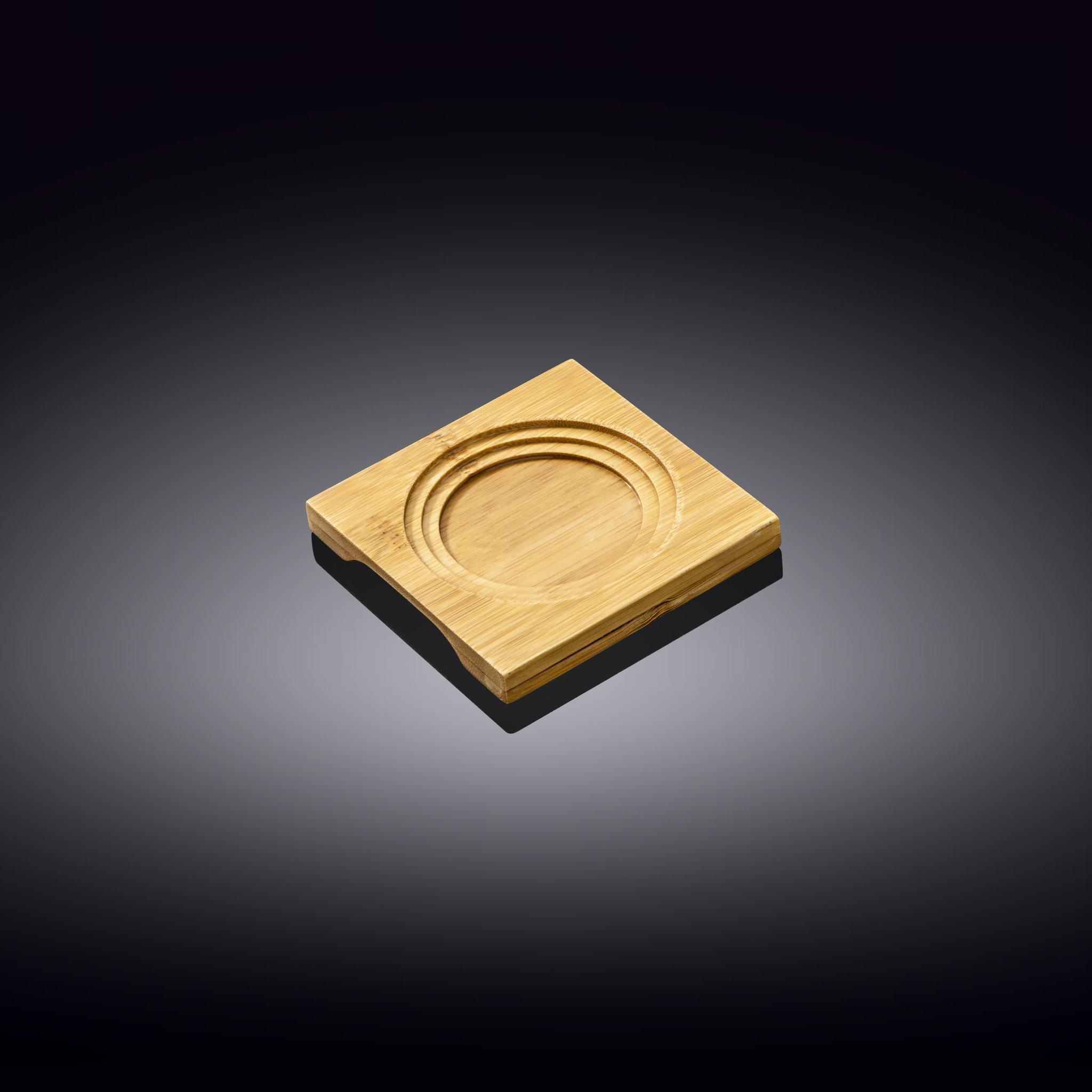 Поднос бамбуковый Wilmax 1 секция, 10 x 10 см