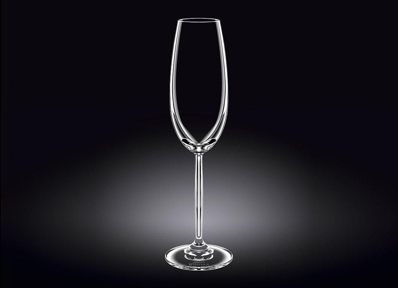 Набор бокалов Wilmax для шампанского  230 мл 2 шт (фирменная коробка)